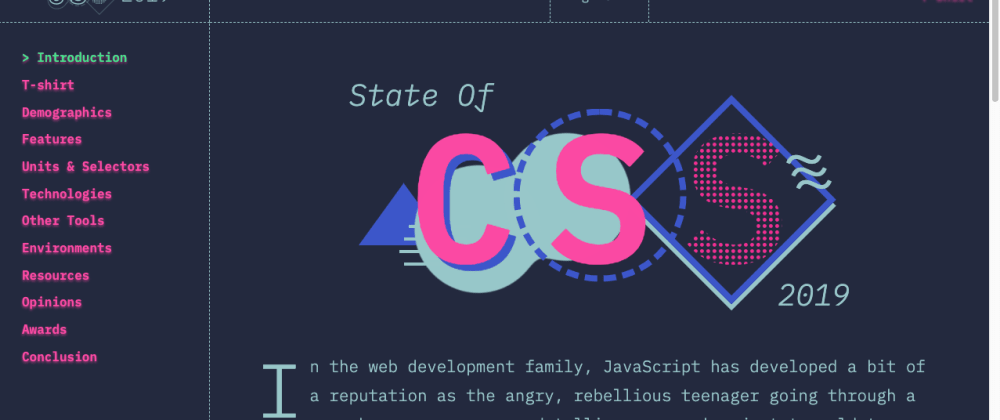 Cover image for The State of: Javascript and CSS. Amazing Recommendation.