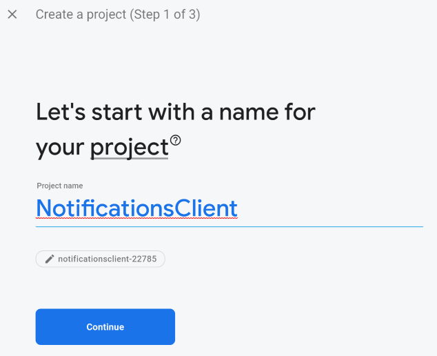 Setting up the new Firebase project