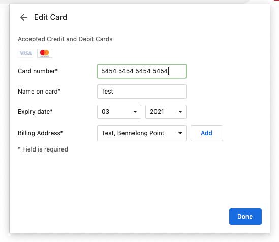 Editing A Card