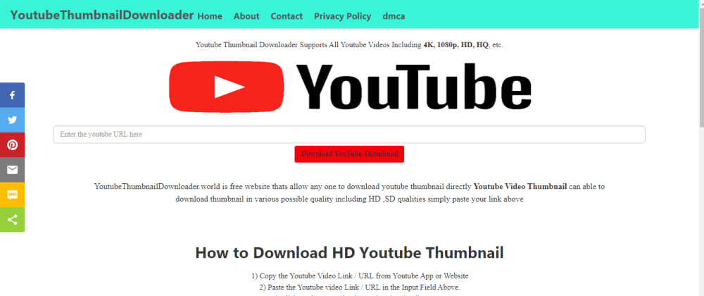 Cover image for Youtube Thumbnail Downloader Tool