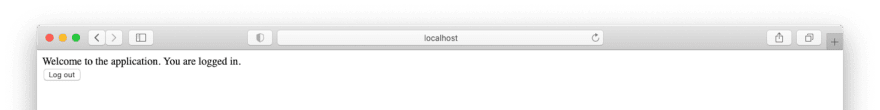 The screen for authenticated users in the legacy PHP application.