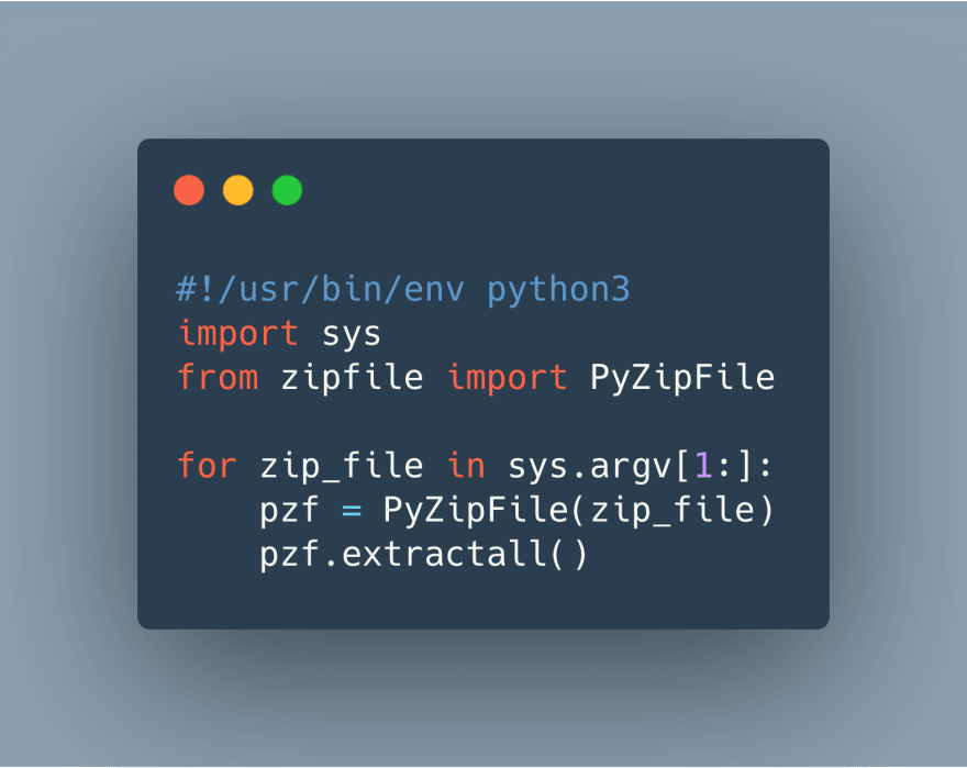 all you need to unzip a file with python