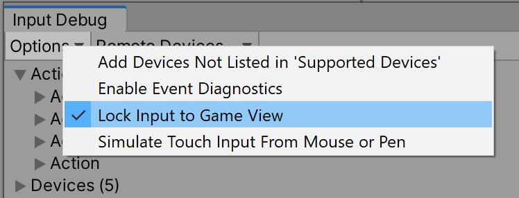 List of options