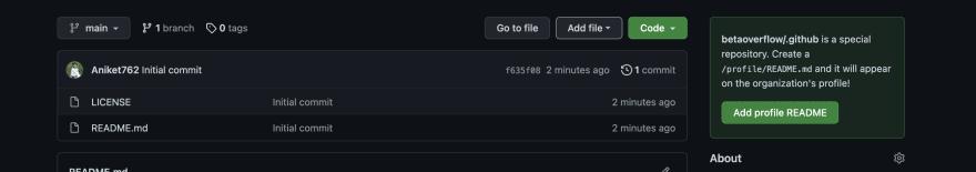 Github organisation readme profile init