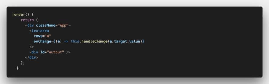 2. Updated render() method