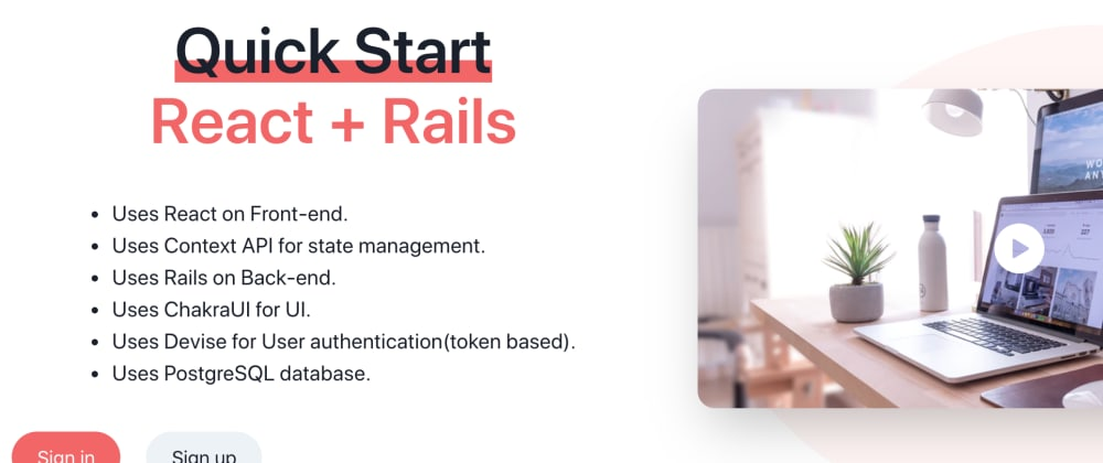 Cover image for Create production ready React+Rails applications