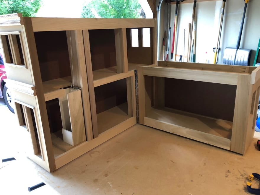 Brownstone loft styled doll house