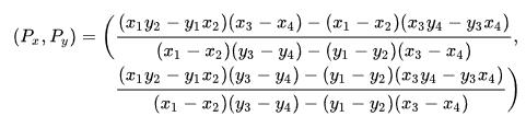line line  intersect formula
