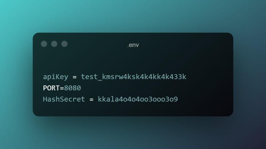 node.js env file