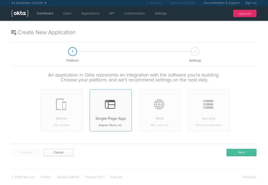 Create new Single Page App