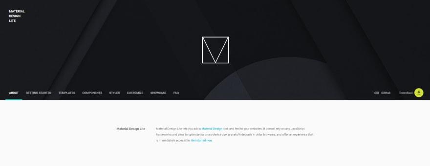Material design CSS framework