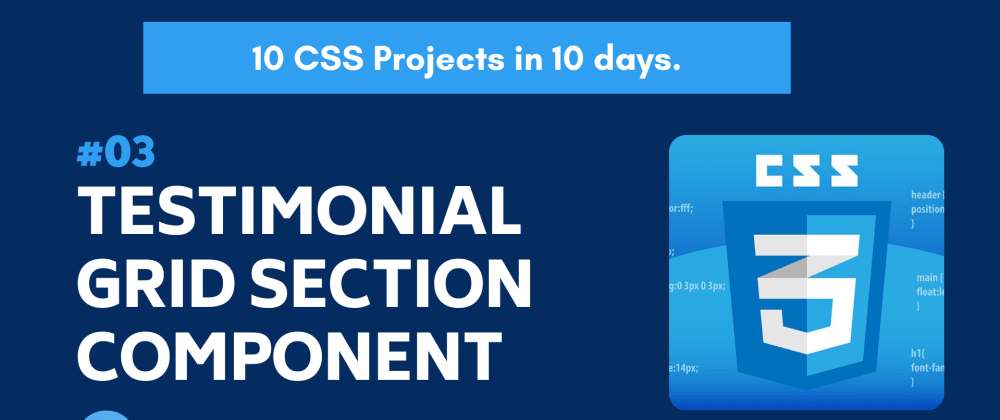 Cover image for Build 10 CSS Projects in 10 days: Project 3