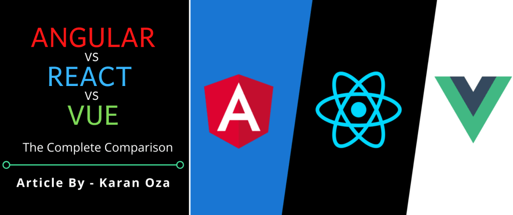 Cover image for Angular v/s React v/s Vue: The Complete Comparison
