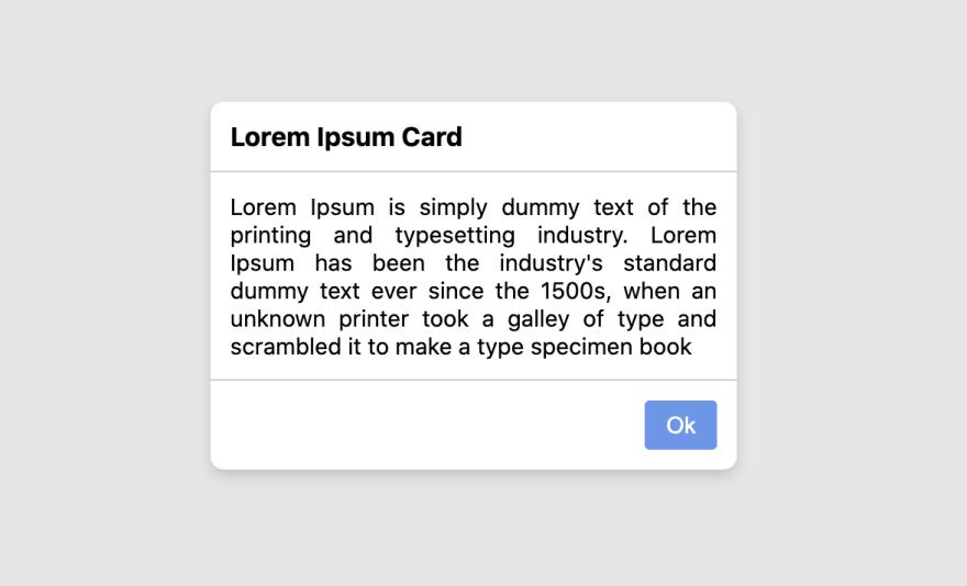 Card Component UI