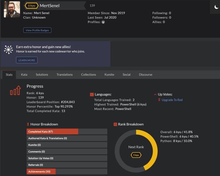 Mert-CodeWars-profile