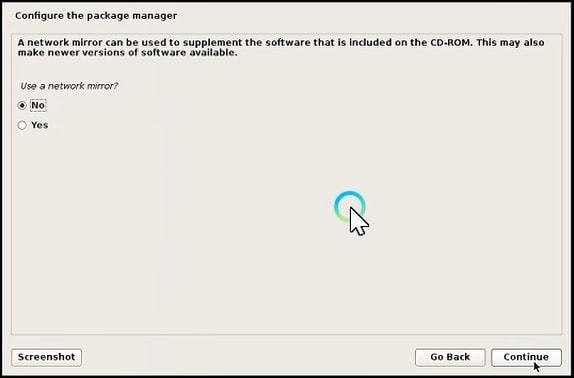 configure the package manager