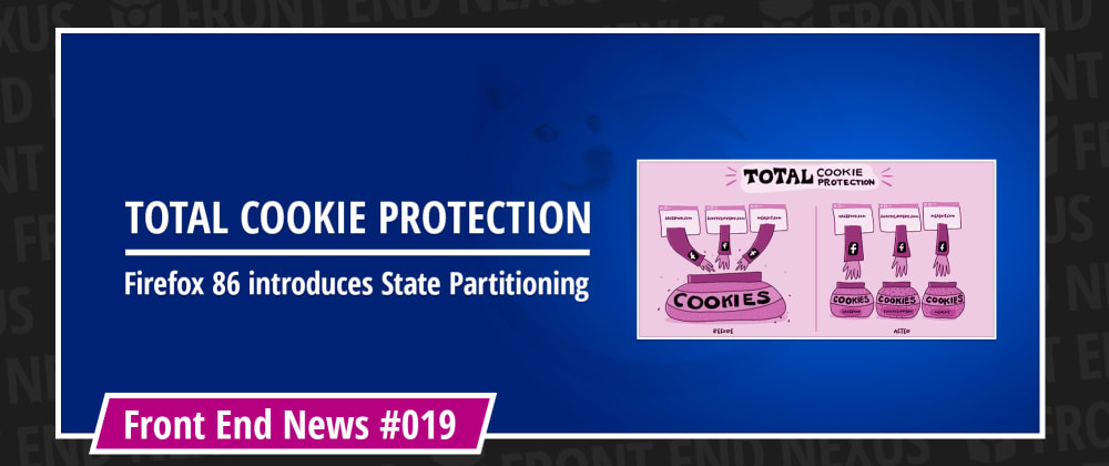 Cover image for Total Cookie Protection in Firefox 86, CSS container queries, and Safari Technology Preview 121 | Front End News #019