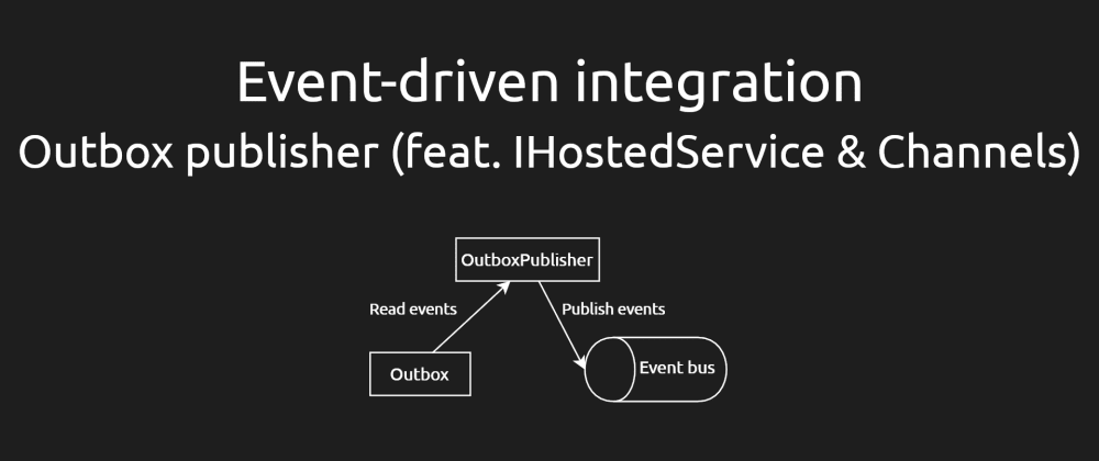 Cover image for Event-driven integration #4 - Outbox publisher (feat. IHostedService & Channels) [ASPF02O|E043]