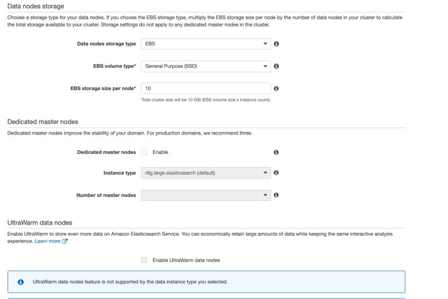 ECS data node storage
