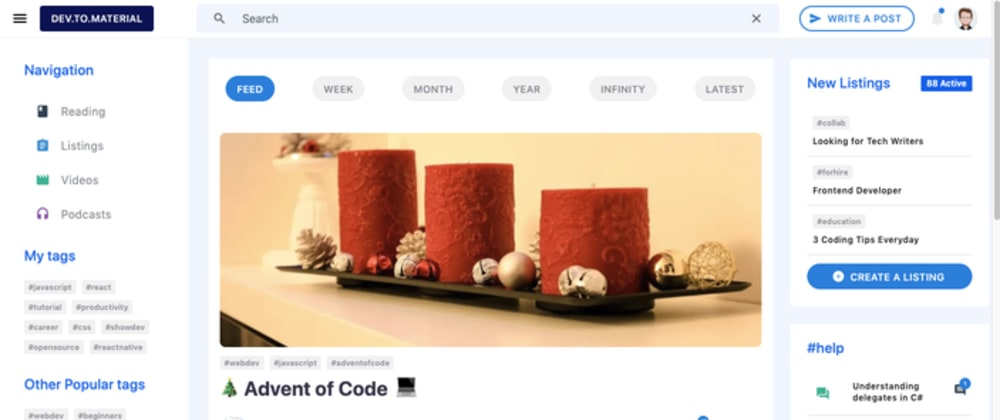 Cover image for A Material DEV Client on Six Platforms with 100% code sharing
