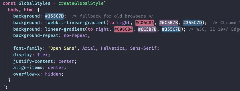 How globalStyles should look