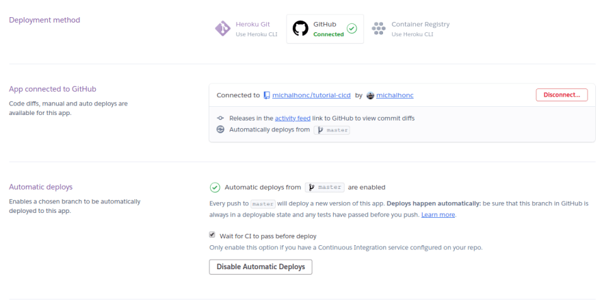Heroku Success Deployment Method