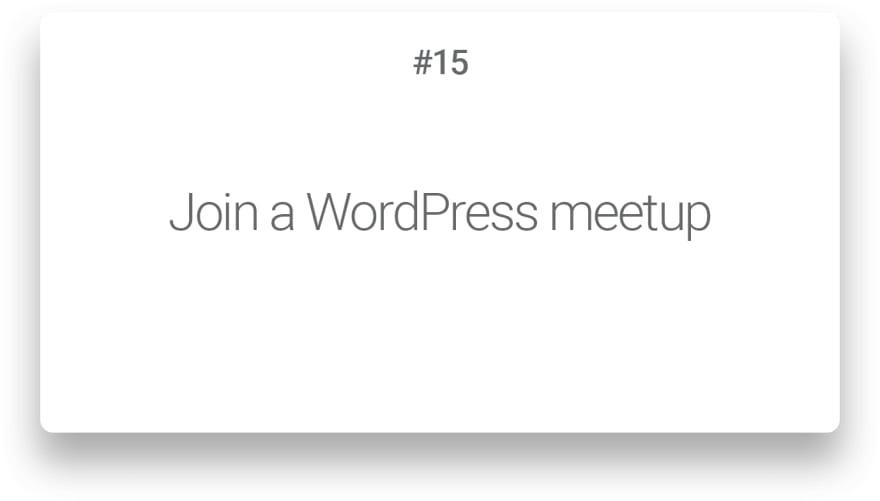 Join a WordPress meetup