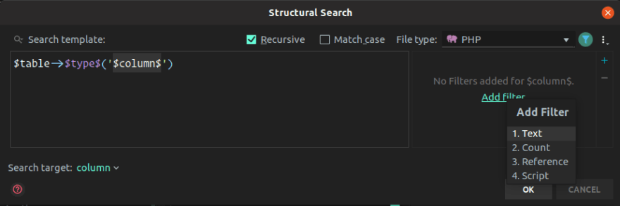 Search template