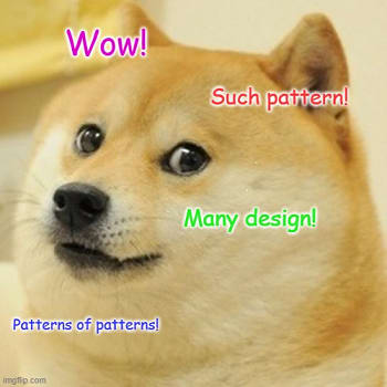 Doge says Wow! Such pattern! many design!