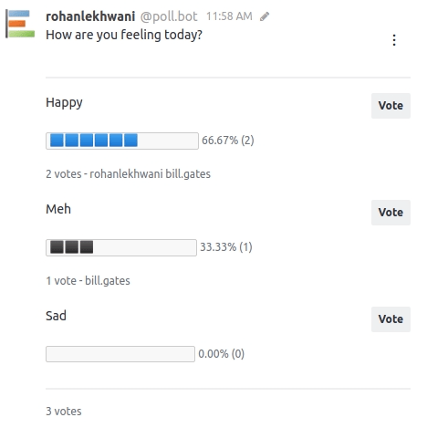 The happy state of the Poll makes me Happy : )