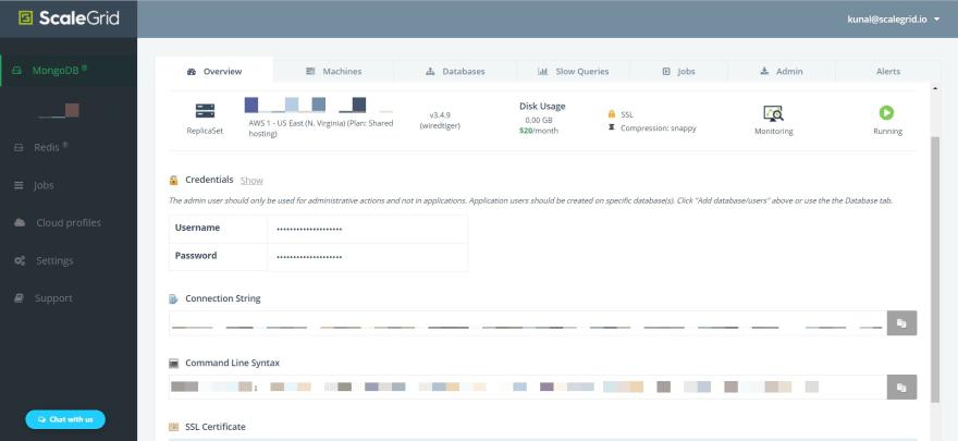 Create a MongoDB Shared Cluster: Build URL Shortener - ScaleGrid Blog