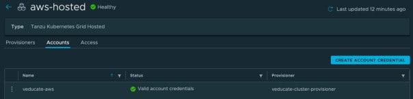 TMC - aws-hosted - account created