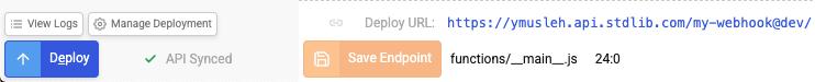 deploy webhook