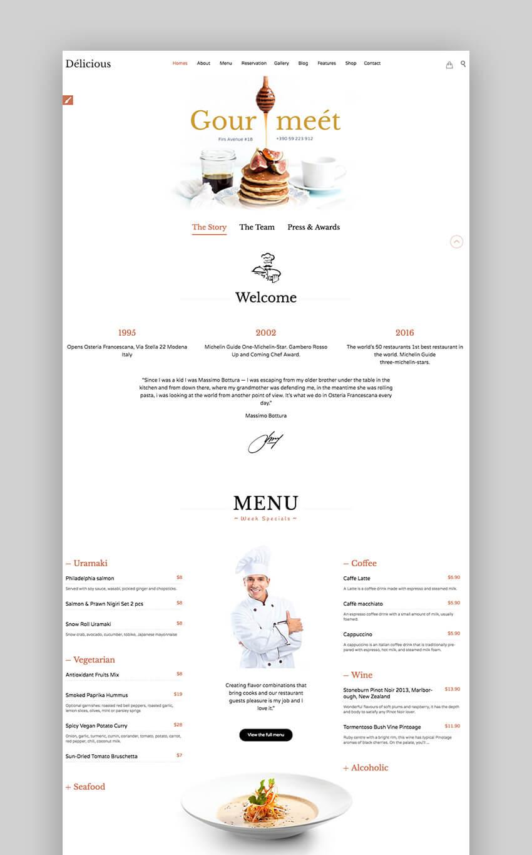 Restaurant Cafe Premium WordPress theme
