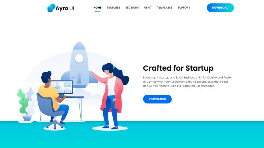 Ayro UI - Startup UI Kit