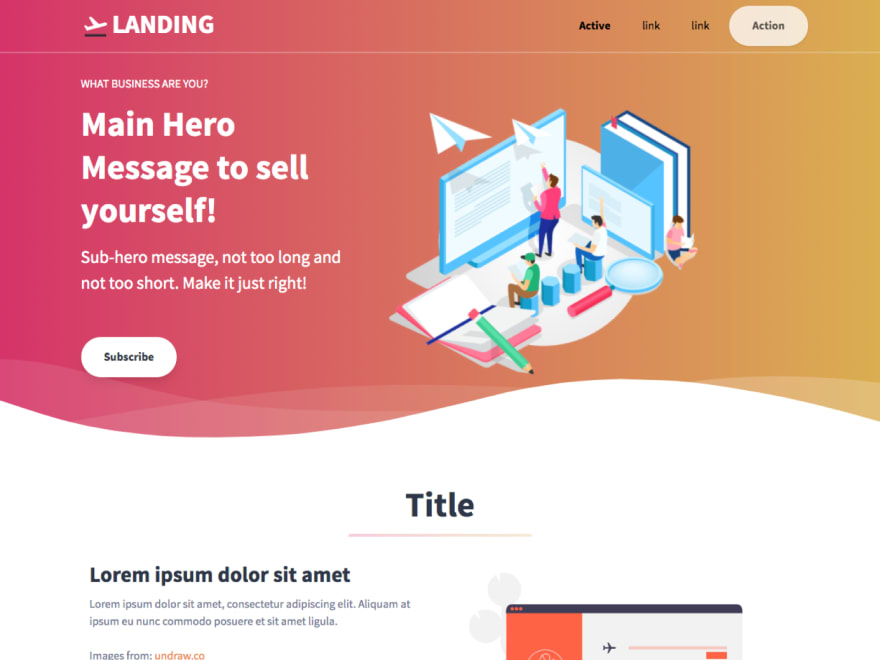 Tailwind Toolbox (Landing Page)