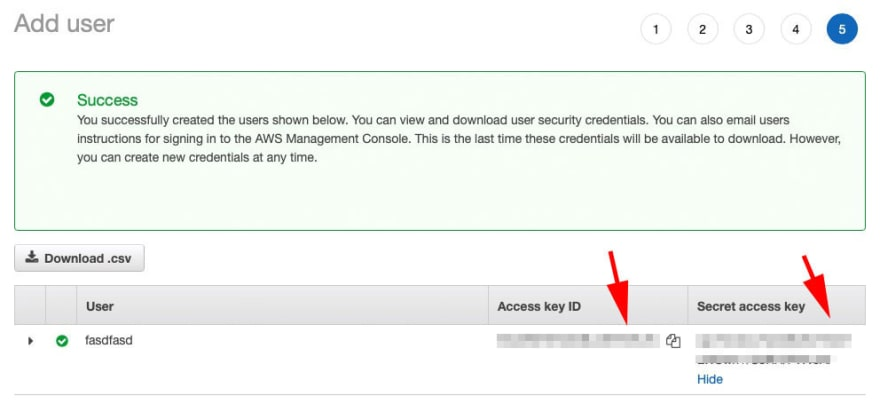 AWS Access Key and ID