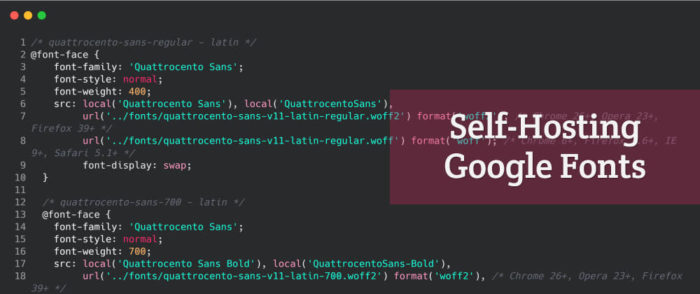 Cover image for How to Self-Host Google Fonts on Your Own Server