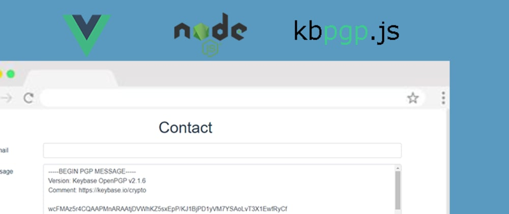 Cover image for Encrypted Contact Form in Vue