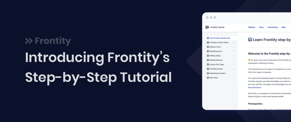 Cover image for Learn Frontity with our New Step-by-Step Tutorial