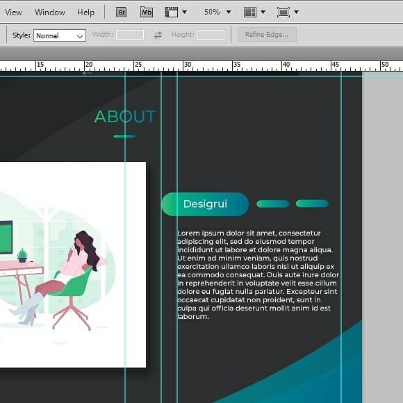 Designing the Website using Photoshop