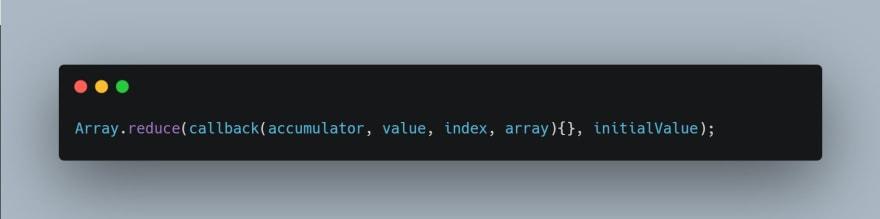 reduce method syntax