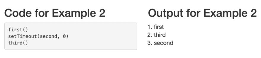 Example 2 — setTimeout