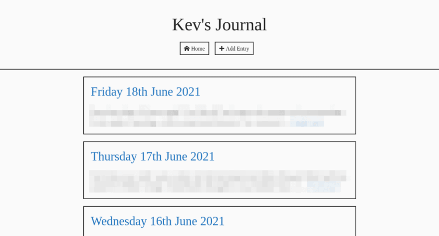 My self-hosted journal's theme