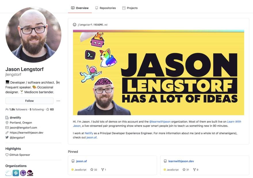 Jason Lengstorf Profile