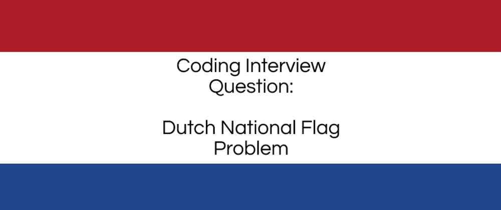 Cover image for Dutch National Flag Problem