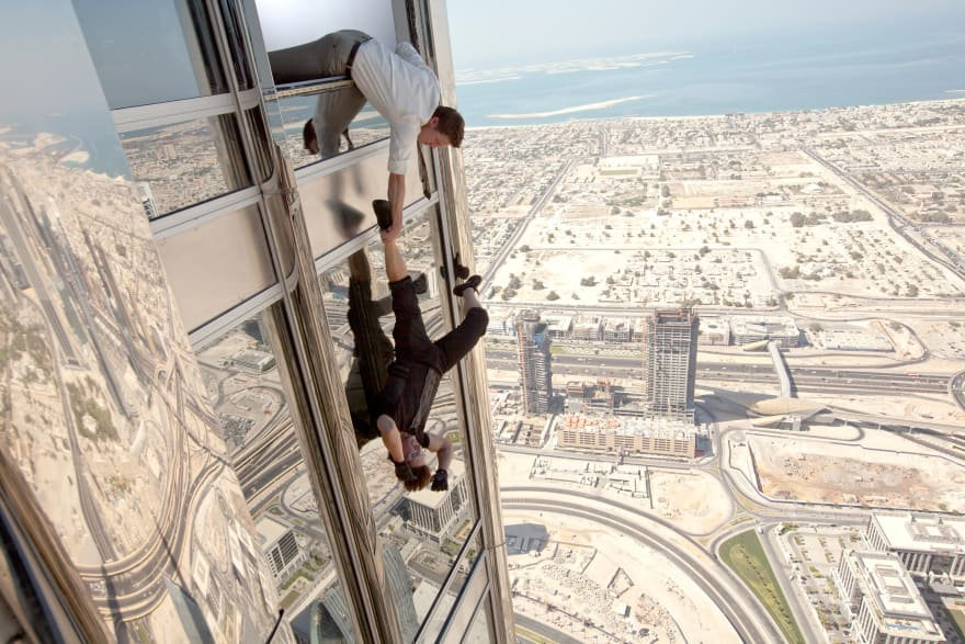 Mission impossible - falling from Burj Khalifa