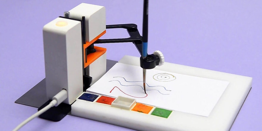 animated image showing line-us drawing robot in action