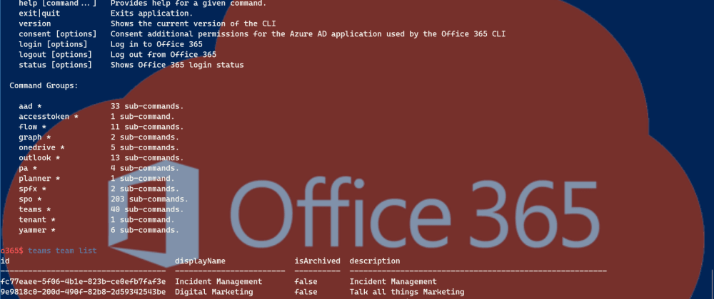 Cover image for 0365 CLI on Windows Terminal