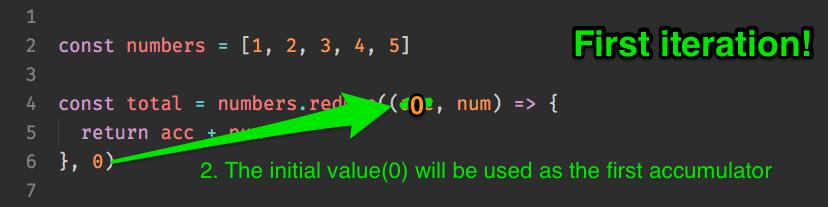 accumulator assigns as 0